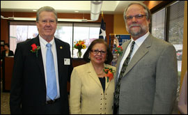 Secretary Andrade at the grand opening of ITT Technical Institute in Waco with Mayor Jim Bush and Loren Schneiderman of ITT Technical Institute.
