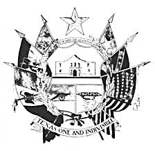 The 1961 Reverse of the Texas State Seal (official design)